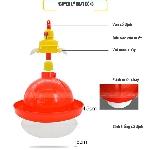 Máng nước tự động dạng chuông cho gà